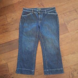 Eddie Bauer crop jeans